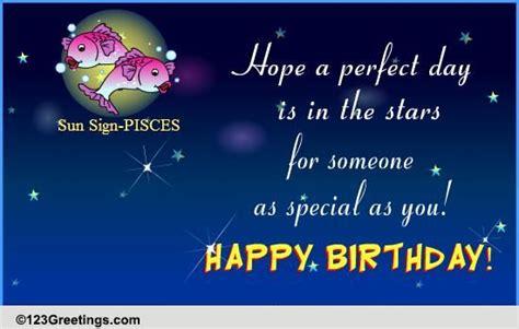 happy birthday pisces  zodiac ecards greeting cards