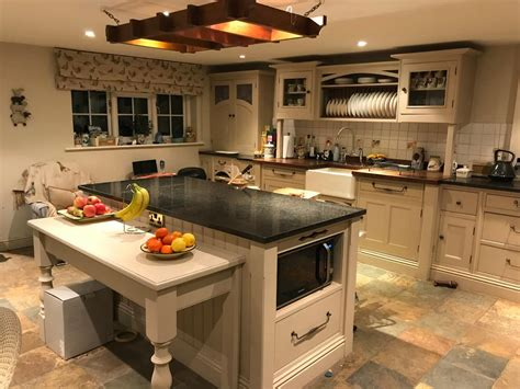 shaker style island kitchen  granite worktops