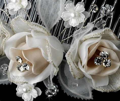 bridal hair style picture ivory rum bridal hair comb comb 8418 8418