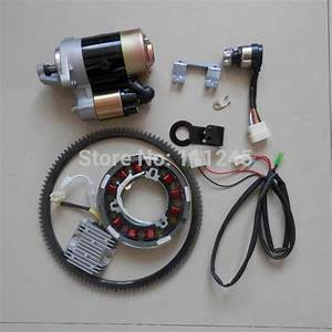 2019 Electric Start Kit Fits Chinese 186f 9hp Diesel 5kw Generator W   Starter Motor Toggle