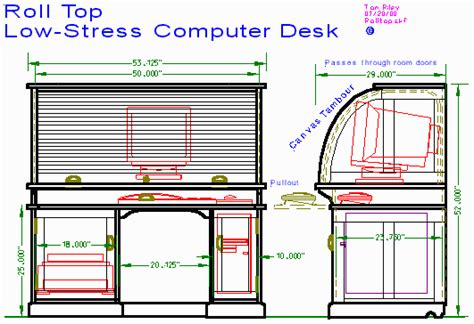 roll up table plans woodware roll top computer desk
