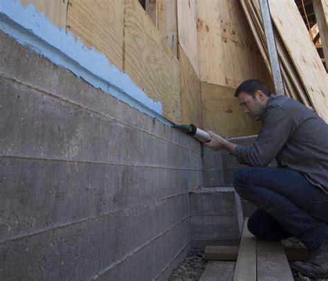 sealing  foundation   framing jlc
