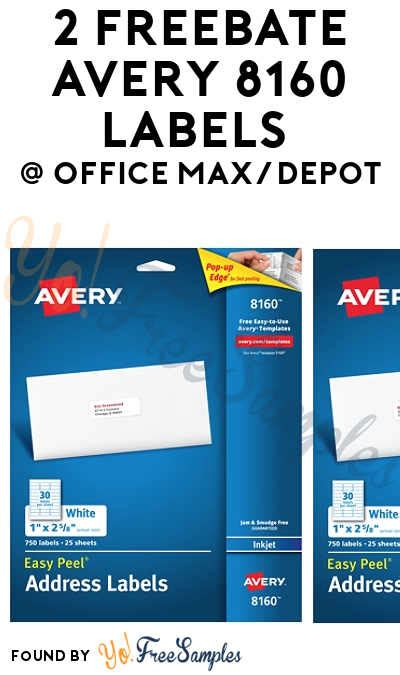 office max label 2 freebate avery 8160 labels from office max depot yo free sles