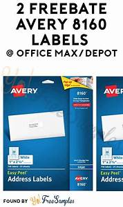 2 freebate avery 8160 labels from office max depot yo With does office depot print labels