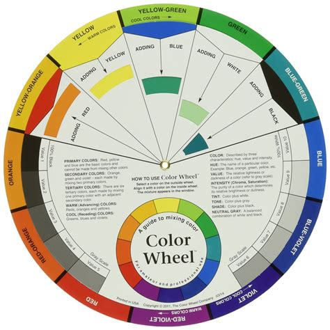 color chart wheel color hue