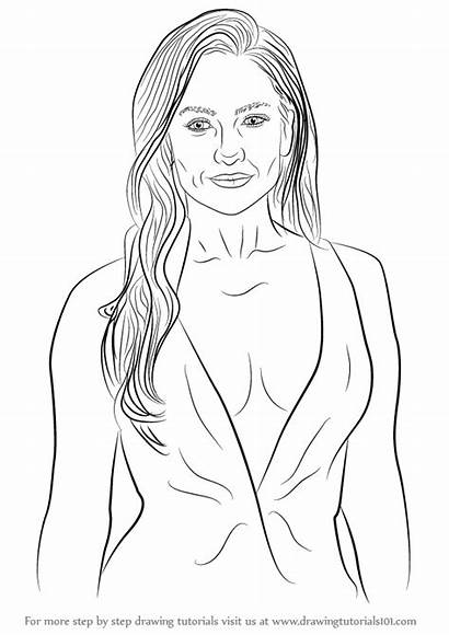 Step Lopez Jennifer Draw Drawing Pages Celebrities
