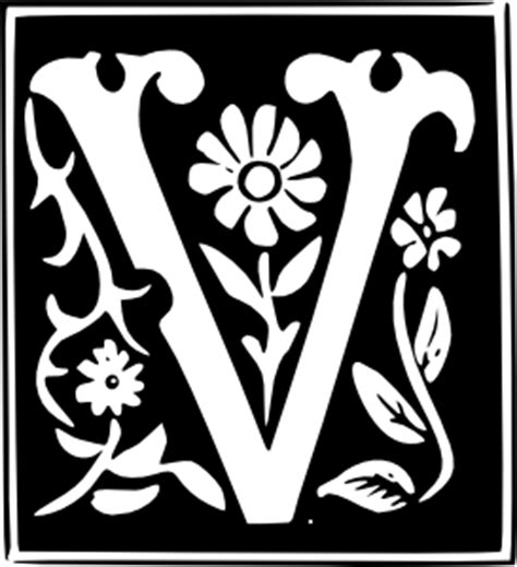 decorative letter set  clip art   svg   vector