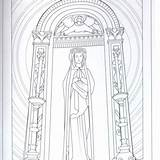 Franciscan Monastery Coloring Adult sketch template