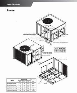 2 5 Ton Goodman 14 Seer 80k Btu Heat Pump Gas Package Unit