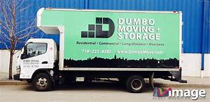 dumbo moving brooklyn ny mitsubishi truck wrap image With truck lettering bronx ny