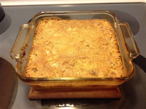 easy apple crisp  cans apple pie filling  boxes jiffy