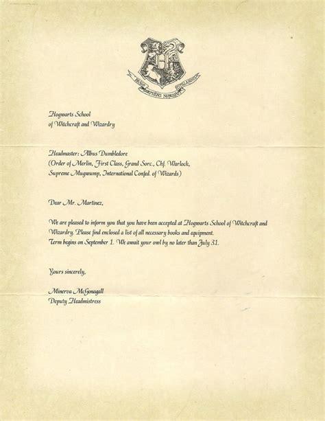 hogwarts letter  acceptance harry potter party