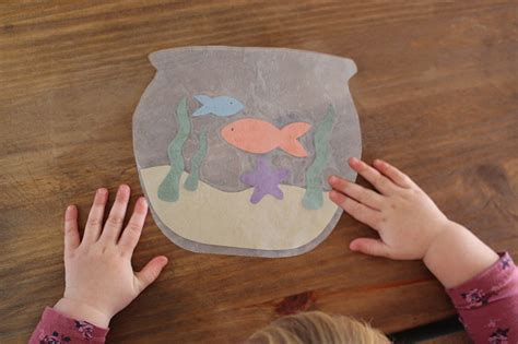wax paper fish bowl kids craft video life  cloverhill