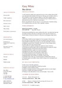 free sle resume school driver cv resume exles to for free