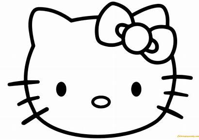 Kitty Hello Face Pages Coloring Ausmalbilder Ausmalbild