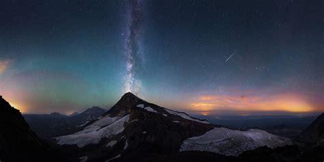 Fond Décran Montagnes Le Coucher Du Soleil Nuit