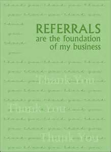 Referral Thank You Note