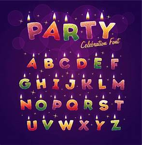 birthday candles alphabet vector free vector in With alphabet letter birthday candles
