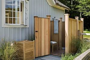 33 design ideas for wooden and metal outdoor shower enclosures With fantastic ideas for outdoor shower enclosure in garden