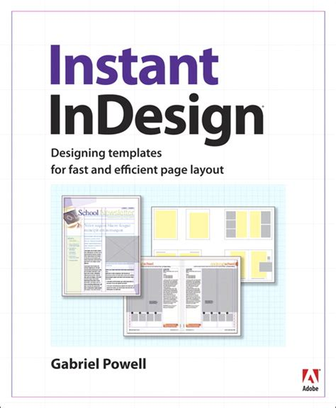 indesign ebook template powell instant indesign designing templates for fast and efficient page layout pearson