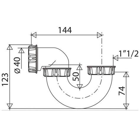 siphon baignoire pvc tube orientable d 40 valentin