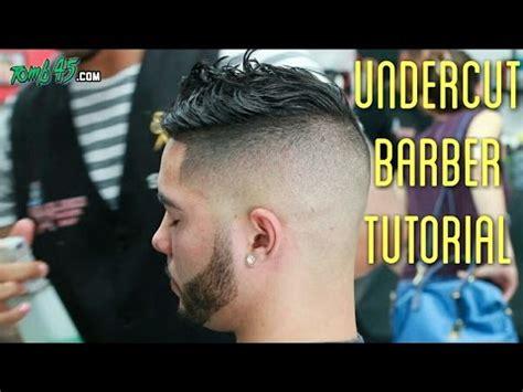 undercut fade barber tutorial mens haircut style youtube