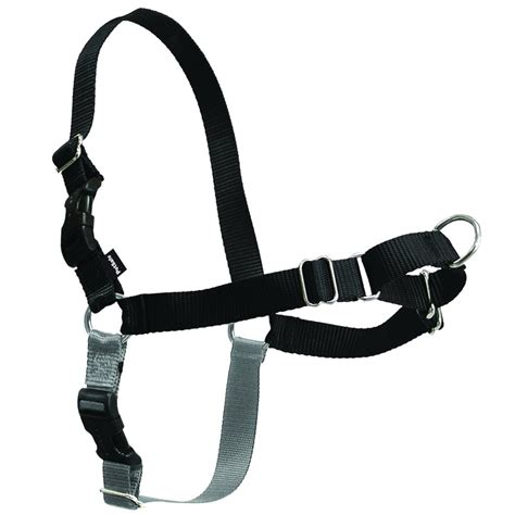 easy walk harness petsafe easy walk harness black silver medium large