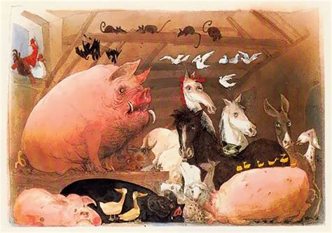 ralph steadmans surrealist illustrations  george orwell