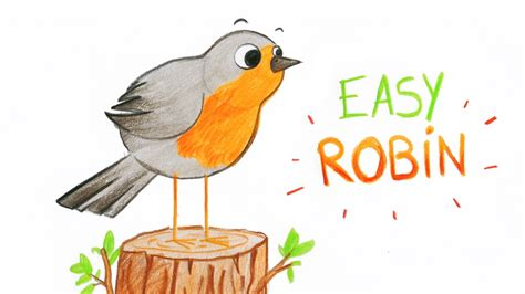 How To Draw A Cute Robin (bird, Easy Way) / Comment