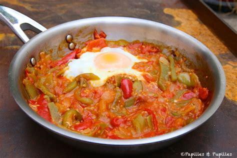 recette cuisine basque piperade et oeuf au plat