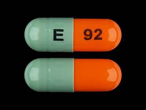 E 92 Pill Images  Green  U0026 Orange    Capsule