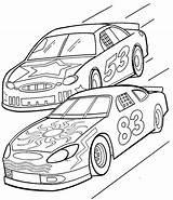 Coloring Race Printable Cars Racing Sheets Racecar Racecars Drawing sketch template