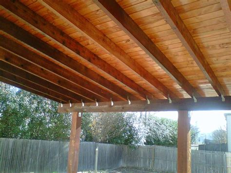 plywood finished patio roofs google search patio roof