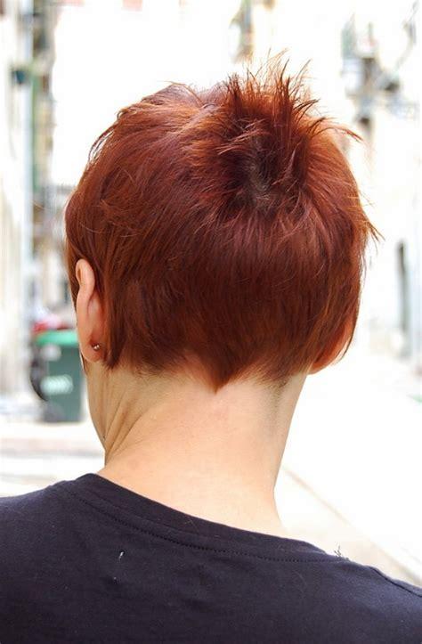 short chic red haircut  short stylish straight bangs