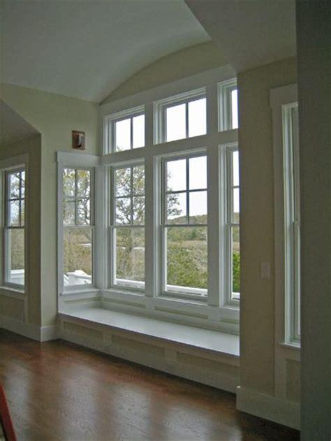 beautiful bay window with window seat home