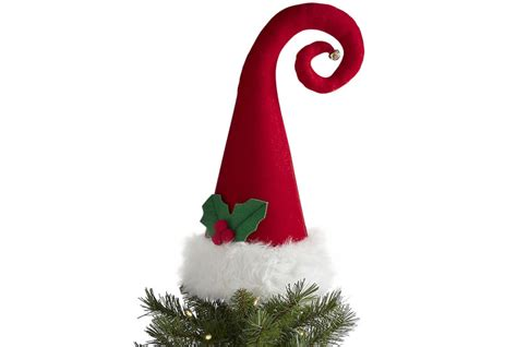 santa hat tree topper christmas tree toppers real simple