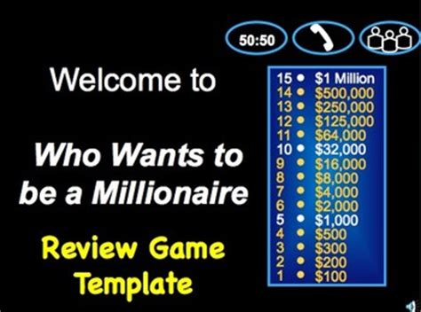 millionaire class review game template