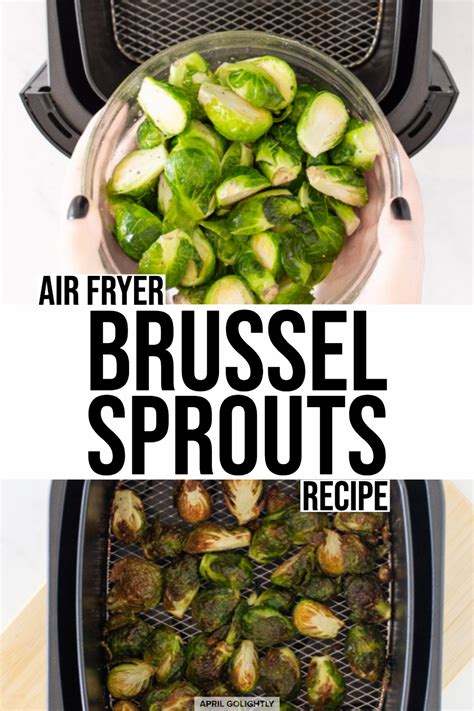 sprouts brussel air fryer bacon recipe brussels maple aprilgolightly shredded
