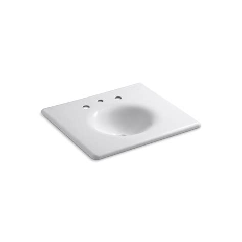 home depot bathroom sink tops kohler iron impressions 25 5 8 in x 22 1 4 in vanity top