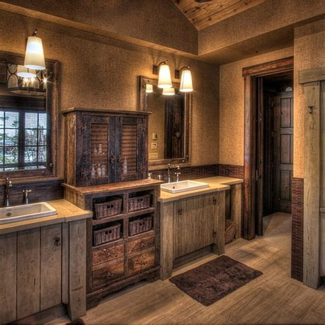 Rustic Bathroom Wall Lights by Attractive Rustic Bathroom Vanities Tedxumkc Decoration