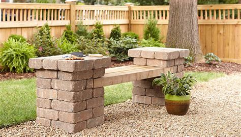 Patio Blocks by Build A Patio Block Bench