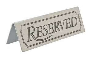 sizzle plate stainless steel reserved sign licensed trade supplies