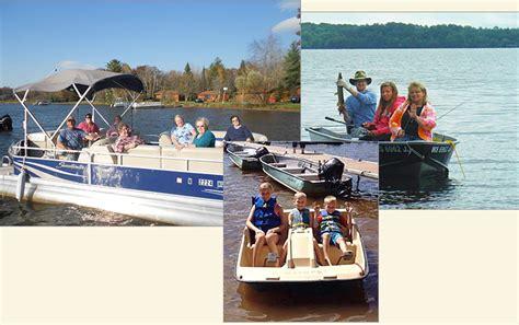 Fishing Boat Rental Wi by Boat Motor Rental Mogasheen Resort Northern