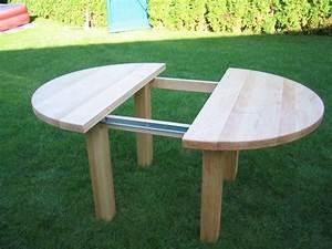 Tisch Für Balkongeländer : tisch rund birke ausziehbar mit einlegeplatte mit ~ Whattoseeinmadrid.com Haus und Dekorationen