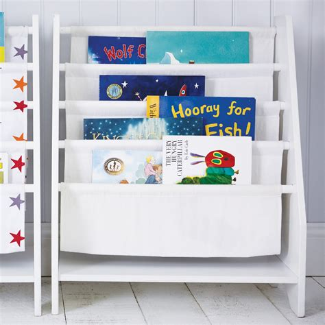 White Sling Bookcase by Sling Bookcase White Great Trading Co