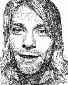 Kurt Cobain Drawing by Michael Volpicelli