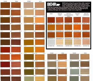 Behr Deck Stain Colors Chart Exterior Stain Colors Deck