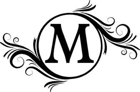 image result   monogram fonts circle black  images initials wall decal vinyl
