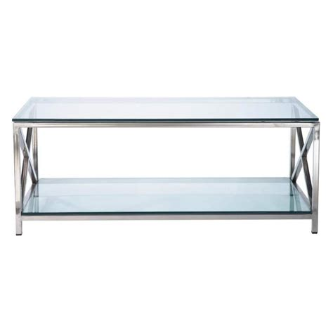 Glass And Metal Coffee Table W 110cm Helsinki  Maisons Du
