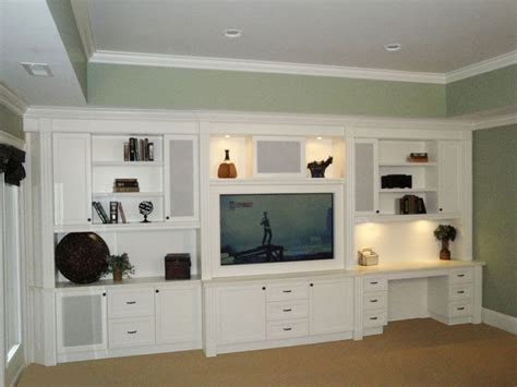 built in wall unit with desk and tv built in entertainment centers built in desk shelves and